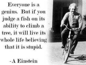 Einstein fish out of water